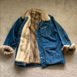 Ralph Lauren 4 pocket barn jacket with fur lining